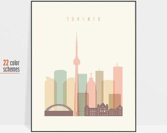 Toronto poster, Toronto print, Toronto art print, Toronto skyline print, Toronto wall art print, Canada prints, travel gift, ArtPrintsVicky