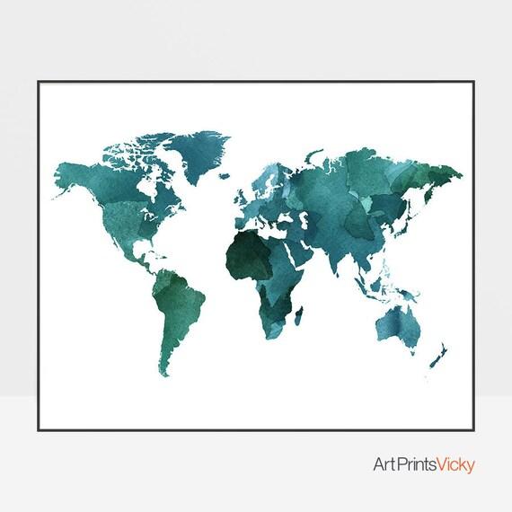large world map poster, world map art, world map wall art, travel map,  travel decor, travel art, gift decor, ArtPrintsVicky.