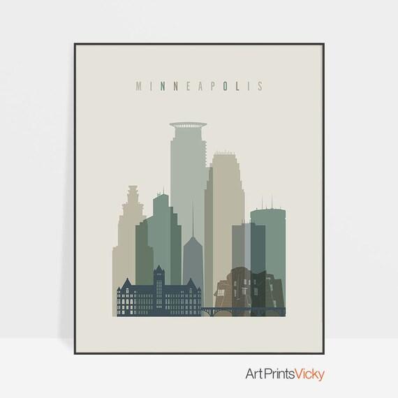Minneapolis print Poster Minneapolis wall art Minneapolis