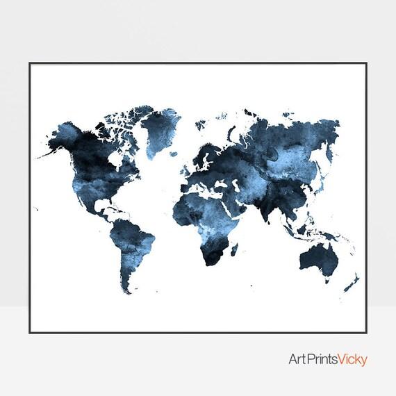 Large World Map Printable.World Map Poster Large World Map Travel Map World Map Wall Etsy