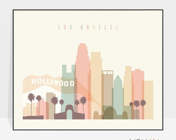 Los Angeles Wall Art Print, LA Decor Art, Poster, Los Angeles California, City print, Typography art, Travel gift, Home Decor ArtPrintsVicky