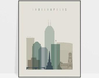 Indianapolis print, Poster, Wall art, Indiana cityscape, Indianapolis skyline, City poster, Travel prints, Home Decor, ArtPrintsVicky