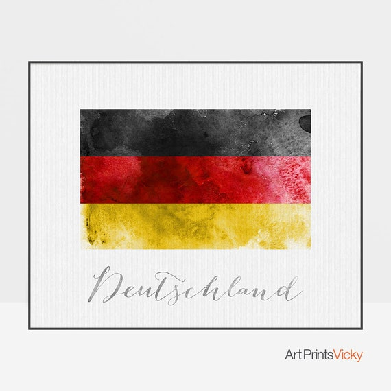 Germany Flag 24x36 inch rolled wall poster