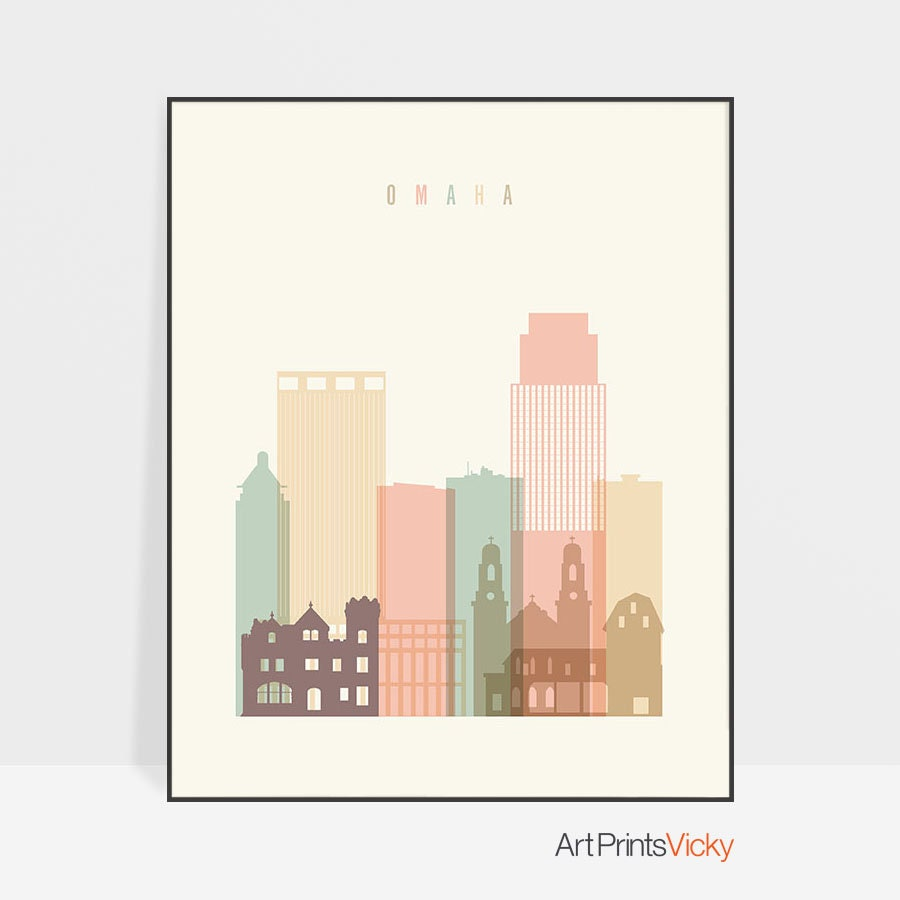 Omaha Decor Wall Art Print Poster