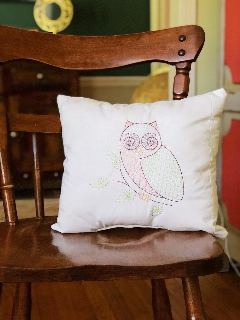 Decorative owl pillow image 0