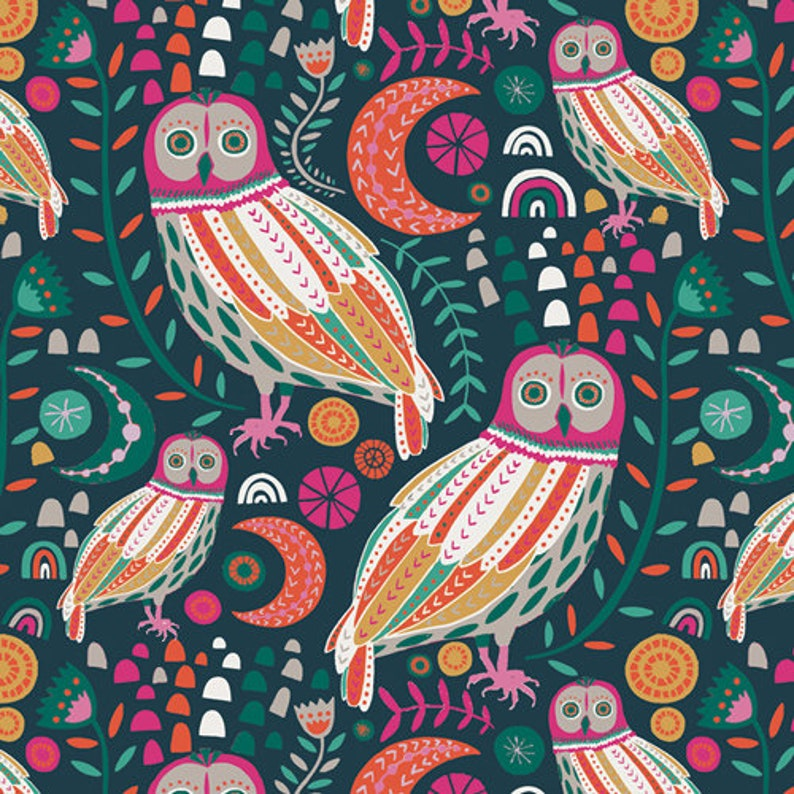 Sova Dayglow cotton fabric for the lugu collection by Jessica image 0