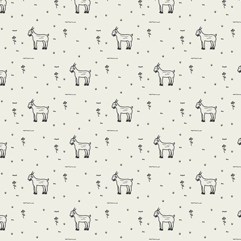 Grazing Goats Cotton Fabric Art Gallery Fabrics for the Day image 0