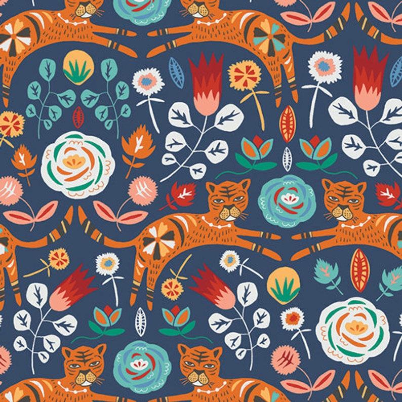 Tigris Indigo fabric from Tallinn by Jessica Swift for Art image 0