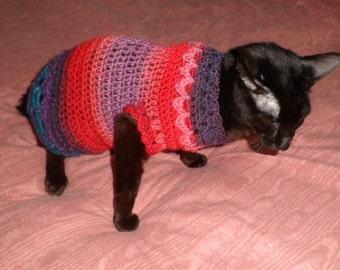 Crochet Cat Sweater Etsy