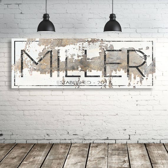 Shop Rustic Established Signs Family Name Gift for Her Modern from Etsy on Openhaus