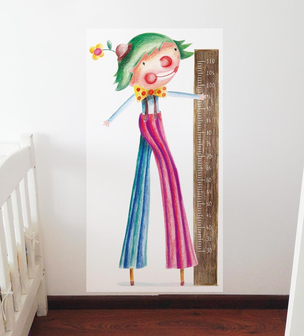 Kids Height Chart Growth Chart Decal Growing Chart Wall Etsy