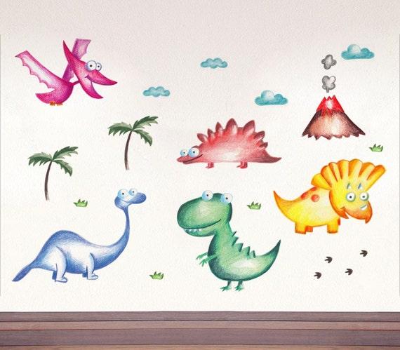 Jurassic park Dinosaur Dino kids decals Dinosaur birthday   Etsy