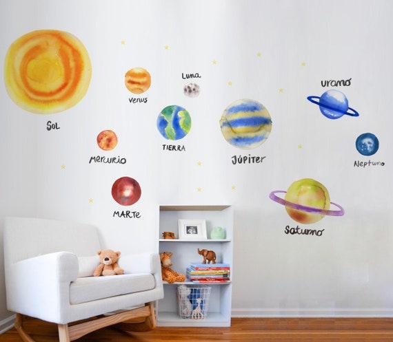 b1e8ac23cb05 Space Wall Decals Solar System Decor Solar System planet | Etsy