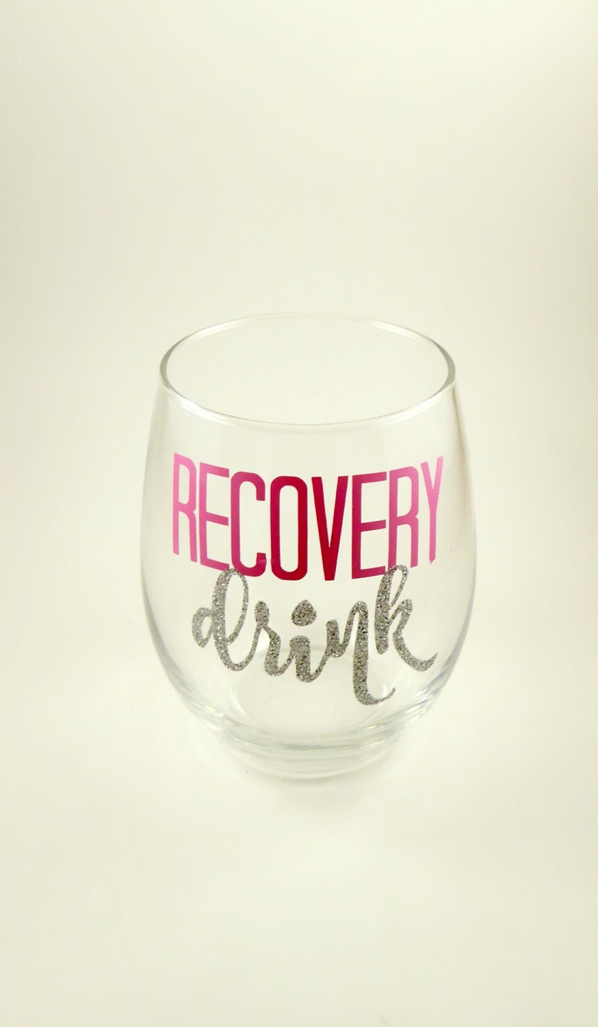 Recovery Drink Running Stemless Wine Glass Great Christmas | Etsy