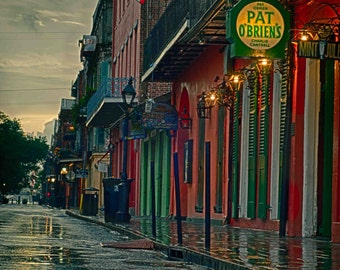 Pat O'Briens, New Orleans,  French Quarter Art, New Orleans Art, Fine Art Print