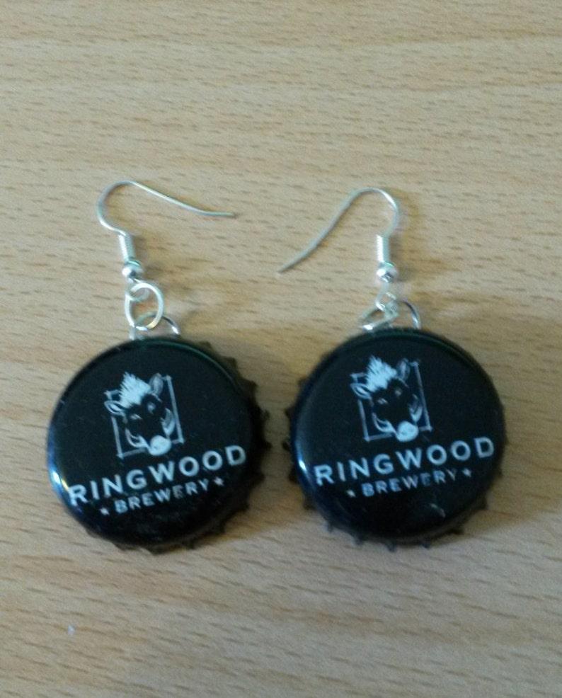Ringwood Brewery Bottle Cap Earrings