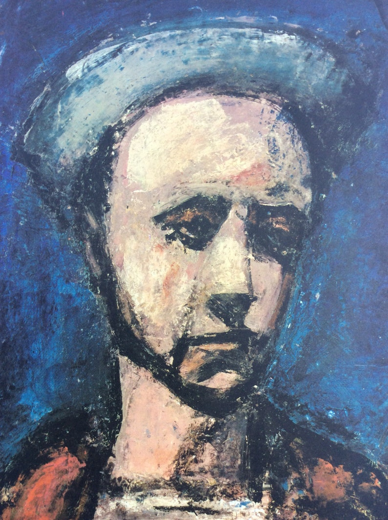 Georges rouault elegant man with a top hat