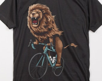 The lion Ride Bike Bicycle Love Cycling Panthera leo big cats African lion  King of Animals White 2ea059f1c