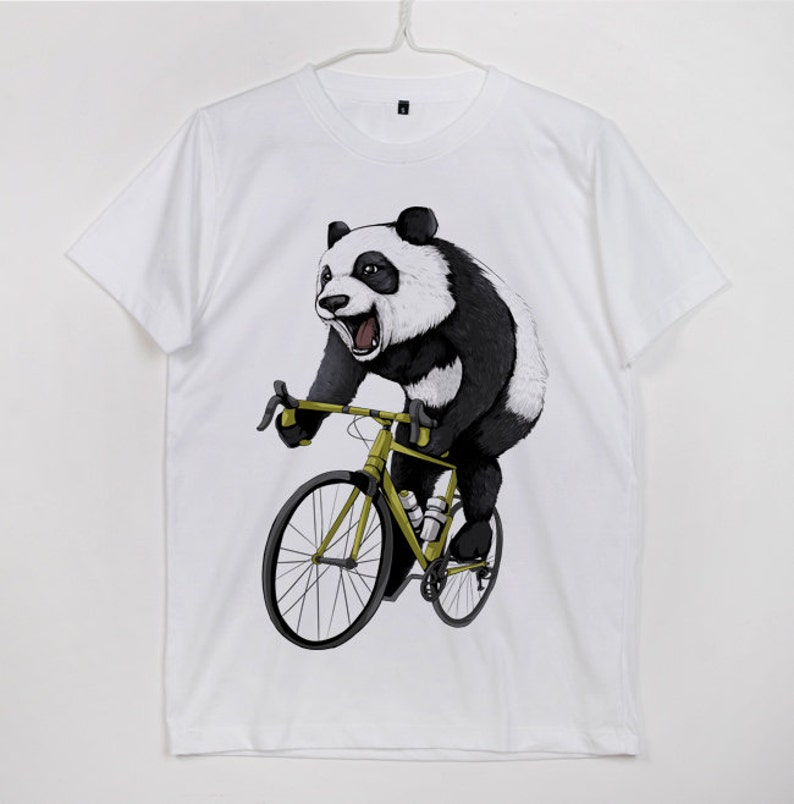 Giant Panda Ride Bike Bicycle Love Cycling Ailuropoda Melanoleuca Panda  Bear White fd75eee26