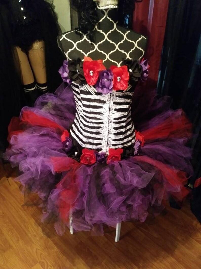 8d27a5b7b6e9e Custom plus size day of the dead costume, Halloween costume womens, Day of  the dead, halloween costume, dia de los muertos, corset costume