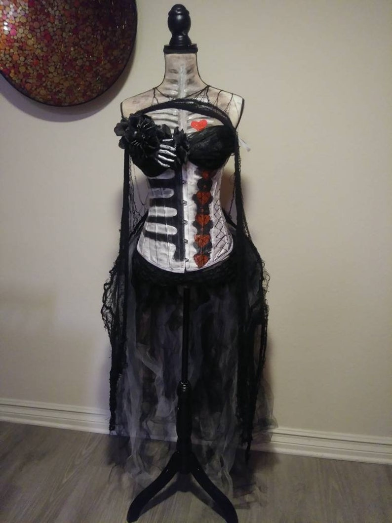 b7f166cfd3362 Custom size Day of the dead costumes, Halloween costume Womens, costumes  for women, dia de los muertos, Corset costume, costumes, Halloween