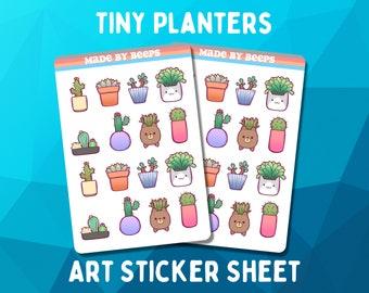 Tiny Planter  - Art Sticker sheet