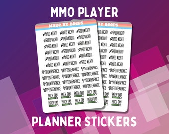 Planner Stickers - MMO Player