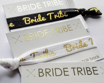 Bride Tribe Hair Ties, Wristbands, Bachelorette Favours, Bridesmaids Gift, Hen Party Favours, Wedding Favours, Bridal Shower, Hangover Kit