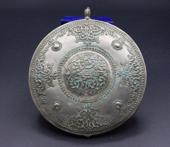 Ottoman Silver Costuming Belt Buckle Pendant Star Design Pendant, Talkaar Workmanship Ethnic Pendant Tribal Ottoman Pendant