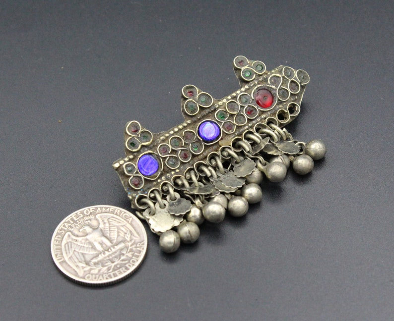 Alpaca Old Hair clip Nomadic Jewelry Hair Jewelry Vintage Kuchi Tribal Belly Dance Hair Clip Belly Dance