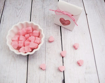 Baby Shower Tea Party Favor, Heart Colored Sugar Cubes, 15 New Baby Favors, Gender Reveal Party, Bridal Shower Favors, wedding favors