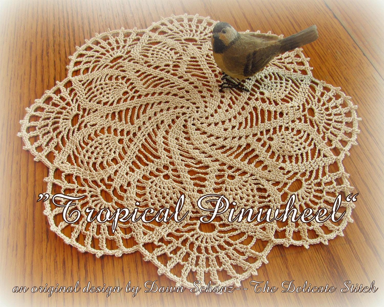 Crochet Doily Patternpdf Downloadtropical Etsy