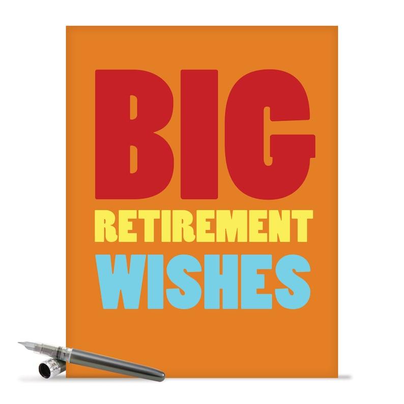J2734RTG Jumbo Funny Retirement Card Big Wishes