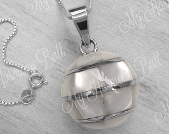 513355cbd Harmony Ball Necklace/Mother of Pearl Bola Ball/Nacre Harmony Ball/Bola Ball/Angel  Caller/Pregnancy Gift/Mother's Necklace/Chime Ball/Bell
