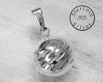 a66bb97a7 925 Sterling Silver Harmony Ball, Bola Ball, Angel Caller, Pregnancy Ball  Necklace, Mom to Be Gift, Bola de Armonía, Bola Bell, Music Chime