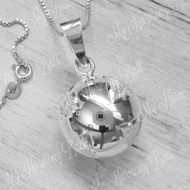 Harmony Ball Pregnancy Bola Necklace Silver Angel Caller Bell for Expecting Mother Hand Stamped Mom Gift Personalized for mom to be