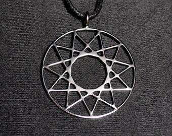 Dissection Pendant Inverted Hendecagram Necklace 11 Pointed Star Logo Satanic Symbol Satanism Satan