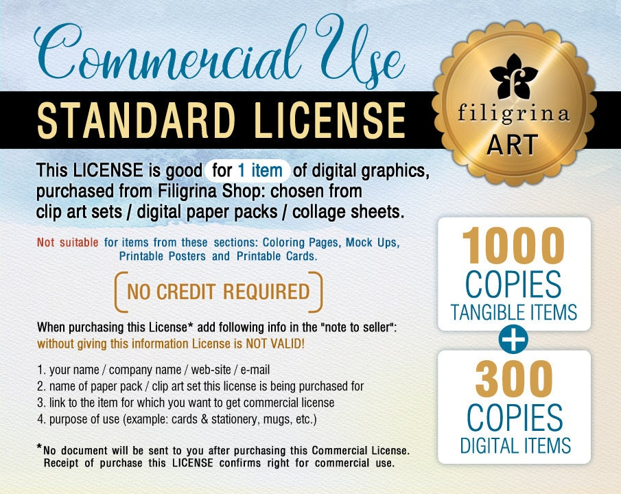 Commercial License Small Business Use Up To 1000 Tangible 300