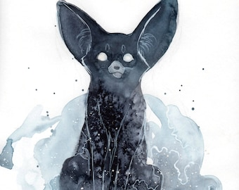 Original Fennec Watercolor