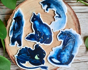 Watercolor Animals Stickers -  High Quality - Semi-Waterproof - Decal