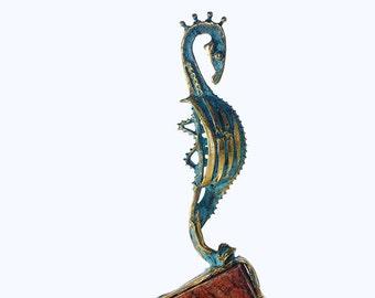 Оcean sculpture art Animal sculpture Bronze art Coastal house decor Marine life Bronze statue New home gift Unique piece Bronze figurine