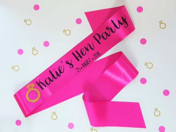 Customisation My Pretty Little Gifts Personalised Sash 160cm Rose Gold Sash