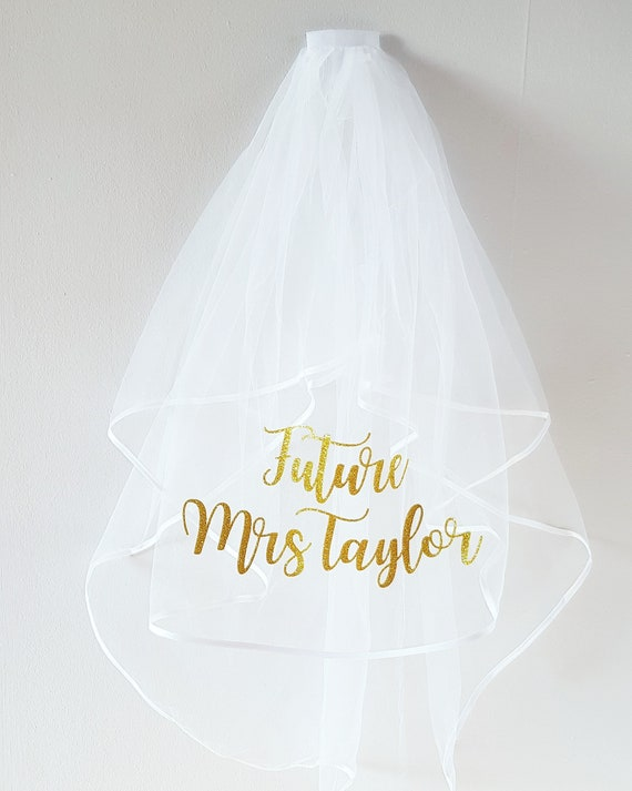 Personalised Hen Party Veil   Bride To Be