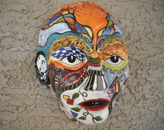 Ceramic Art Mask - Dreaming With My Eyes Open - The Creative Mind