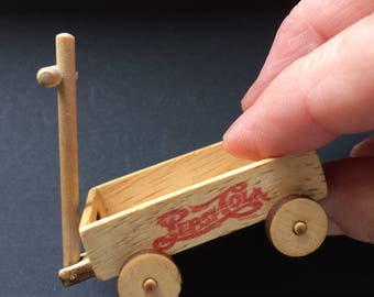Dollshouse miniature wooden trolley
