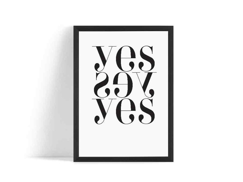 YES YES YES Scandinavian Poster  Affiche Scandinave  image 0