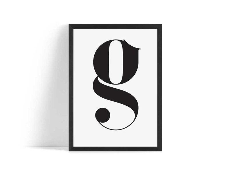 Letter G Printable Poster Letter G Print Typography Letter image 0