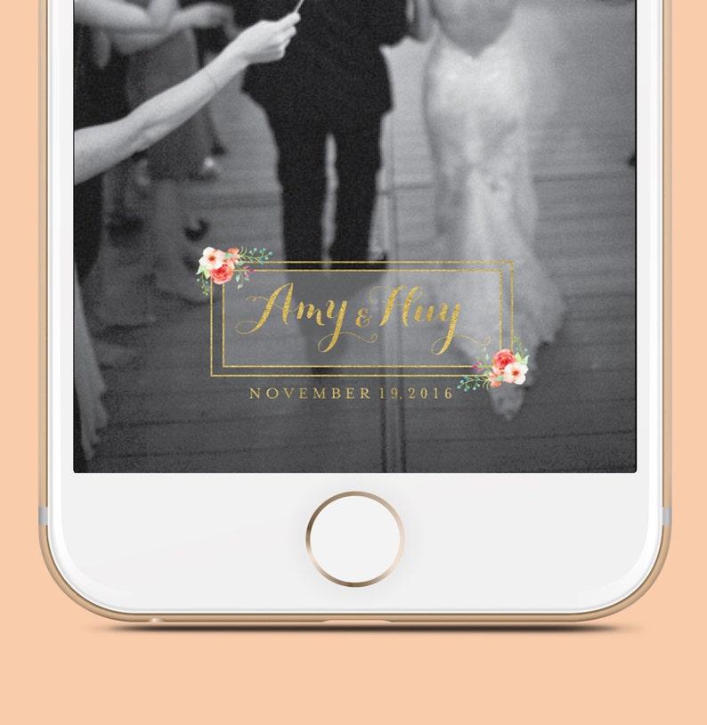 Wedding Snapchat Geofilter Wedding Geofilter Personalized image 0