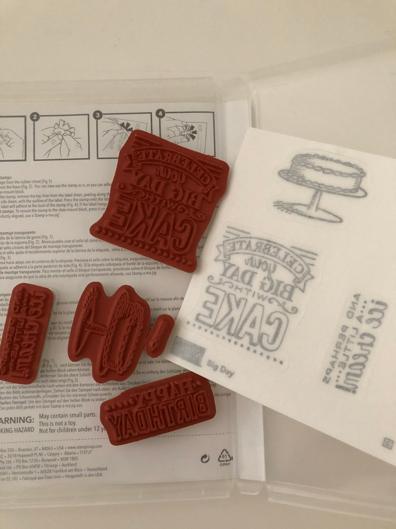 Stampin/' Up Big Day cling mount stamp set barely used