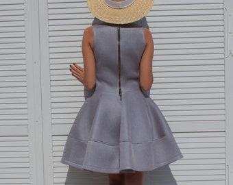 Handmade 50's women's  grey  dress Size S